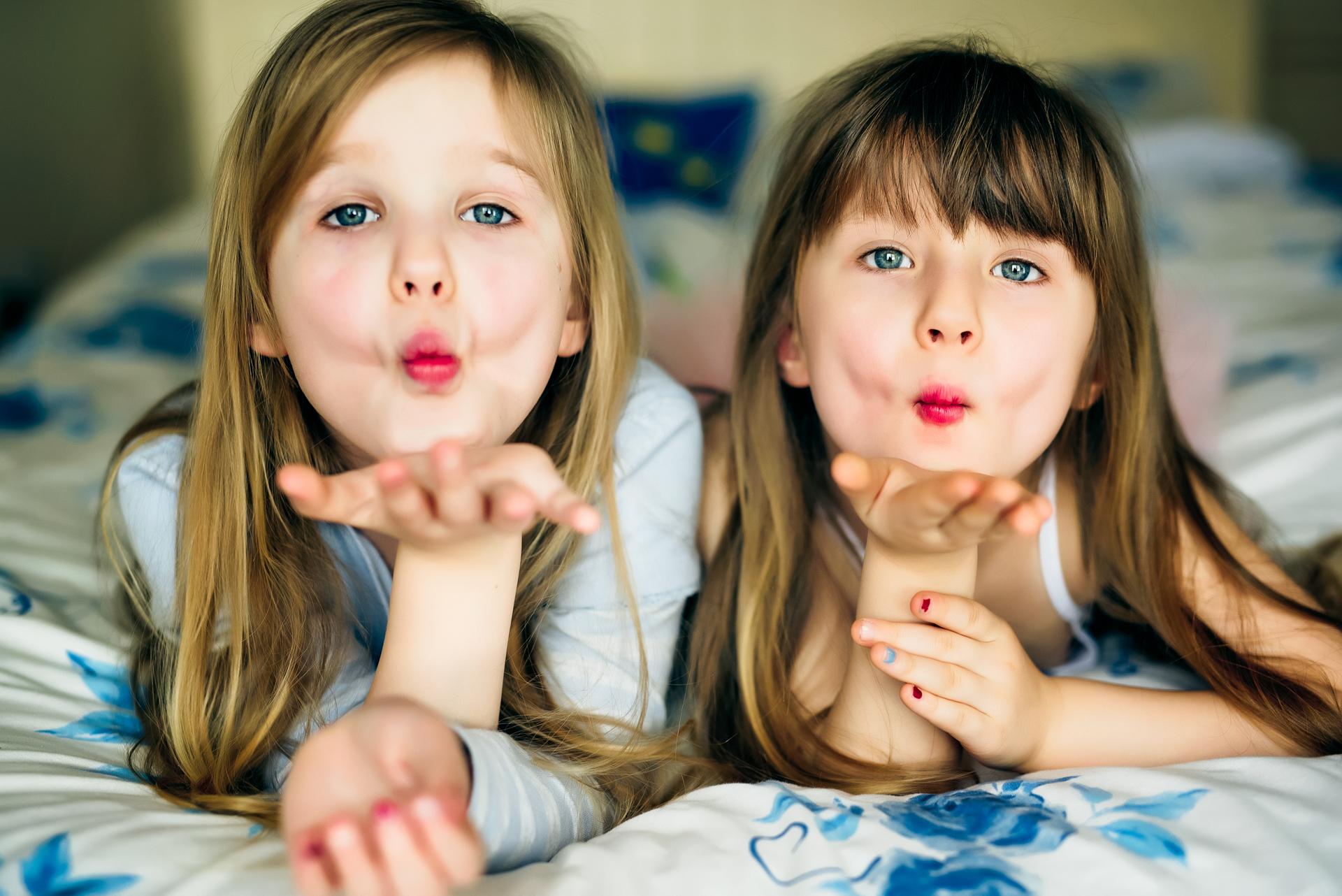 Two beautiful sisters Julia and Karolina