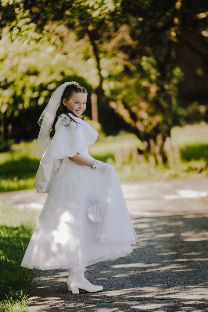 Ava and her Communion Day