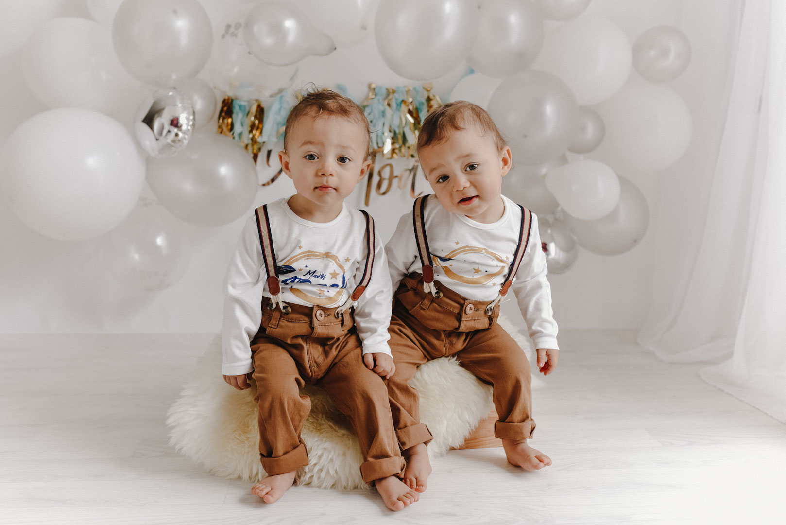 One year old twins